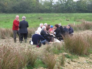A picnic in the field which inspired 'Between Two Fields'