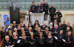 Côr Abergwaun sing 'Y Tangnefeddwyr' (The Peacemakers) at Hermon Chapel